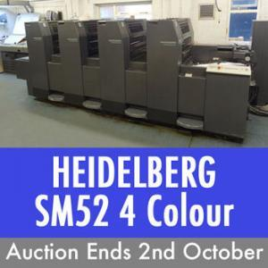 Heidelberg SM52 Oct 2nd Online Auction