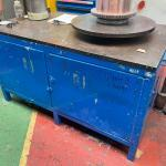 Various Steel tables with cupboards-1
